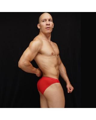 Bikini para hombre microfibra malla roja