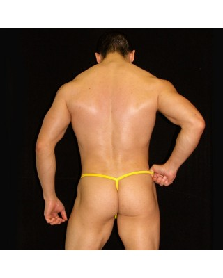 yellow g-string for men