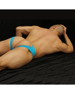 backless men bikini turquoise color