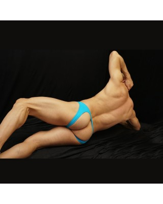 bikini hombre sin trasero color turquesa vista de lado