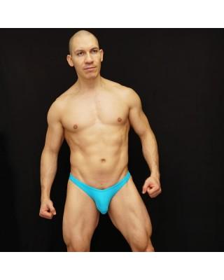 backless men bikini turquoise color