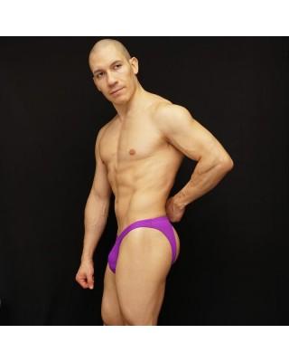 bikini hombre trasero descubierto purpura