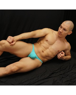 mens g-string Bulge thong turquoise