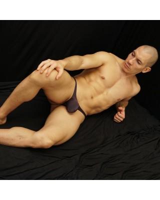 men bulge thong pouch brown color
