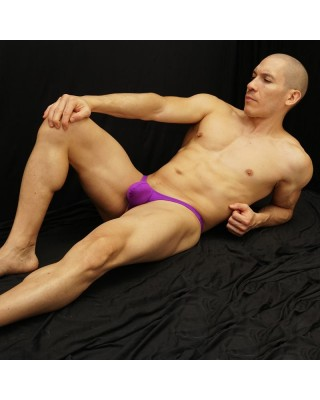 men bulge thong pouch purple color