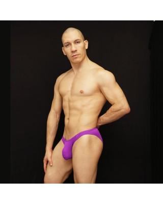 men microfiber bikini made in purple color