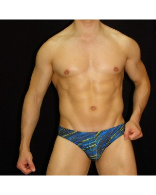 sunga baño estampada azul amarillo