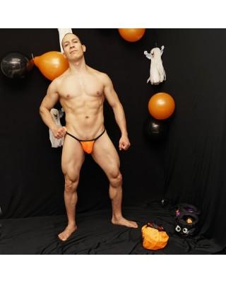 Orange Mesh halloween thong